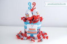 Kreativer Montag 73 - Geburtstagstorte mit Kinderschokolade-Produkten - ...