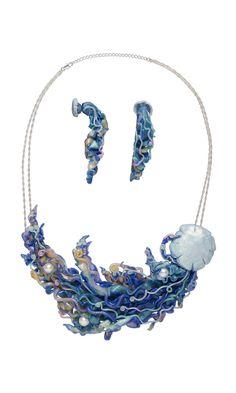 "Design Idea G93R ""Gentle Jellies"" by Designer Starsha Battrick. Fire Mountain Gems and Beads' Contest 2016 featuring Creative Clays - Finalist. #jewelrymakingcontest #polymerclay #jewelrydesign #jewelryart #clayart #diyjewelry"