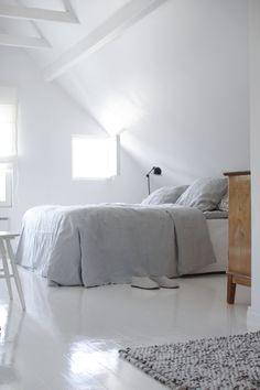 = soft grey linen and window - Model Home Interior Design Dream Bedroom, Home Bedroom, Modern Bedroom, Bedroom Decor, Light Bedroom, Minimal Bedroom, Bedroom Ideas, Master Bedroom, Simple House