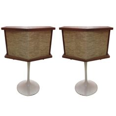 Pair of Bose Saarinen Tulip Base Speakers | From a unique collection of antique and modern decorative objects at http://www.1stdibs.com/furniture/more-furniture-collectibles/decorative-objects/