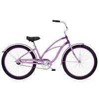 Halfords | Electra Cruiser Custom 1 Hybrid Bike - Ladies/Lavendar