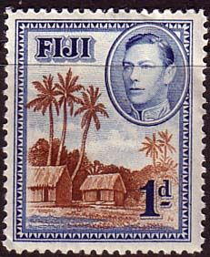 Fiji 1938 SG 250 Native Village Fine Mint SG 250 Scott 118 Other British Commonwealth Empire and Colonial stamps Here