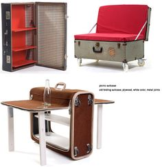 awesomely upcycled suitcases and chests. #design #upcycle