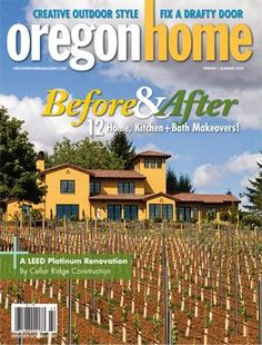 This LEED Platinum home that Cellar Ridge Construction brought to life made the cover of Oregon Home Magazine. Check out this article and view the photos of this beautiful Tuscan inspired home nestled in the red hills of Dundee Oregon Dundee Oregon, Kitchen Center Island, Best Kitchen Layout, Old World Style, House And Home Magazine, Cellar, Kitchen And Bath, Kitchen Remodel, Construction