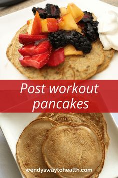 Make these pancakes today for a nutritious post workout snack Nutritious Breakfast, Healthy Breakfast Recipes, Nutritious Meals, Healthy Snacks, Breakfast Meals, Healthy Eating, Post Workout Nutrition, Post Workout Snacks, Workout Protein