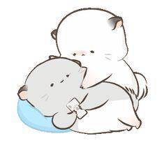 Cute Couple Cartoon, Cute Cartoon Pictures, Cute Couple Art, Cute Love Cartoons, Cute Images, Cute Pictures, My Little Pony Stickers, Cute Stickers, Cute Love Gif