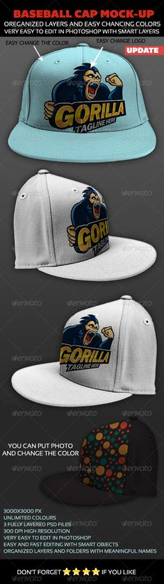 Baseball Cap Mock-up -  ahmedtawfek on graphicriver, $4