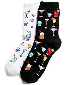 Hot Sox Tropical Drinks Trouser Socks