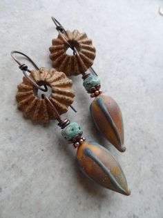 Earthy Pods ... Artisan-Made Lampwork, Ceramic and Copper…