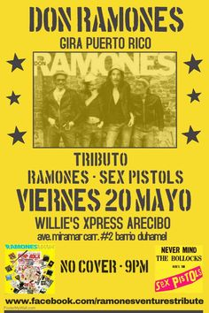 Don Ramones @ Willie's Sports Bar #sondeaquipr #donramones #williessportsbar #arecibo #ramones #sexpistols