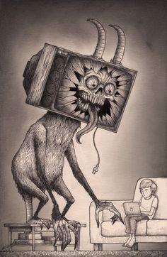 Freaky #Illustrations by John Kenn #art #inspiration