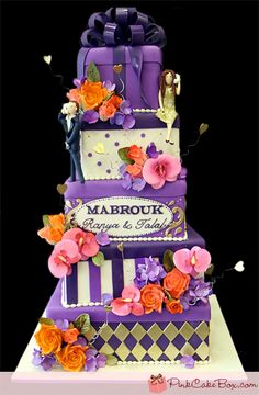 Engagement Gift Box Cake by Pink Cake Box