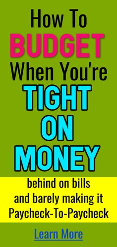 Need a Behind on bills budget? How To Budget When You're Broke, Tight on Money and Living Paycheck to Paycheck. How to budget your money for beginners, families, teens, college students and anyone living paycheck to paycheck or behind on b Budgeting Process, Budgeting Finances, Budgeting Tips, Household Notebook, Monthly Budget, Household Budget Spreadsheet, Financial Peace, Budgeting, Finance
