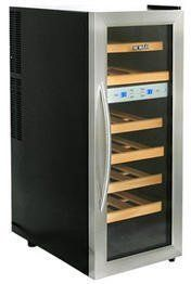 NewAir AW-211ED Streamline 21 Bottle Dual Zone Thermoelectric Wine Cooler, Stainless Steel by NewAir. $336.53. From the Manufacturer                The NewAir AW-211ED 21 bottle dual zone wine cooler features a state-of-the-art thermoelectric cooling system that is quiet and vibration free. Boasting a sleek, modern design with a stainless steel door, built-in LED light and elegant wood wine racks, it is sure to complement any decor.  Compact, Freestanding Design - Featuring a...