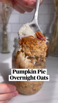 Oats Recipes, Pumpkin Recipes, Whole Food Recipes, Cooking Recipes, Healthy Recipes, Plant Based Breakfast, What's For Breakfast, Breakfast Recipes, Dessert Sans Gluten