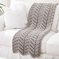 Create this DIY Bernat Maker Home Dec Ripples Crochet Afghan in colors to match your decor.