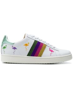 81b040ce89ddd Moa Master Of Arts Striped Flamingo Sneakers - Farfetch