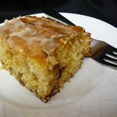 Michelle's Honeybun Cake - Allrecipes.com This sounds completely decadent and utterly ridiculous. I must make it!