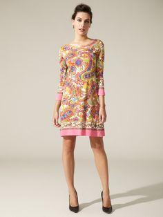 Printed Matte Jersey Shift by D Dolce & Gabbana on Gilt