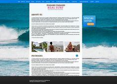 Real Surf Bali  web design, web development, wordpress