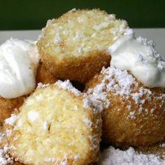 A Sprinkle of Hungary: The Week of Sweetness: Túrógombóc (Curd cheese dumpling) Hungarian Desserts, Hungarian Cuisine, Hungarian Recipes, Just Desserts, Dessert Recipes, Hungary Food, Dumpling Recipe, Dumplings, Winter Food