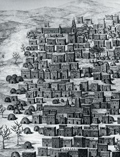 View of city of Timbuktu, Mali, engraving from Travels through Central Africa to Timbuctoo, by Rene Caillie (1799-1838) between 1824 and 1828, Africa