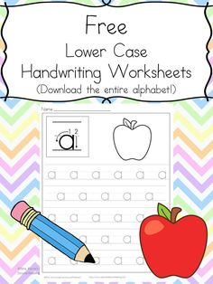 Free Handwriting Practice Worksheets:  Download the entire alphabet at one time and help your child learn to write.