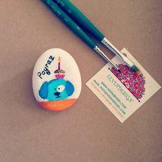 Poyraz 1 yasinda tas boyama magnet - Bebekleriniz icin dogum gunu ve hosgeldin sekerleri #bebek #sekeri #bebeksekeri #babyshower #handmade #elvindesign