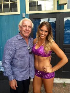 Ric Flair & his daughter Ashley Johnson (Charlotte)