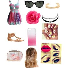 Summer by raylynn12 on Polyvore featuring polyvore, fashion, style, maurices, Oasis, Charlotte Russe, Forever 21, J.Crew and Oliver Peoples