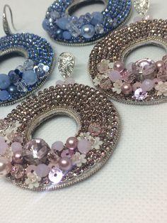 Jewelry Trends, Boho Jewelry, Beaded Jewelry, Jewelery, Bead Embroidery Jewelry, Beaded Embroidery, Beaded Earrings, Earrings Handmade, Earring Tutorial