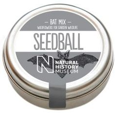 You are looking at a brand new tin of Seedballs Bat Mix The ideal mix to attract bats to our gardens Created in collaboration with the Natural Natural History Museum, Evening Primrose, Garden Beds, Yellow Flowers, Perennials, Seeds, Balls, Nature, Cottage