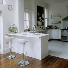 Küchen Küchenideen Küchengeräte Wohnideen Möbel Dekoration Decoration Living Idea Interiors home kitchen - Weiße moderne Küche