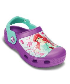 Take a look at this Viola & Island Green Creative Crocs Ariel™ Clog by Crocs on #zulily today!