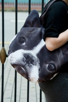 Boston Terrier dog purse dog lover tote bag dog tote di BENWINEWIN