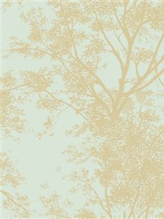 Ashford House Wallpaper | Tree Silhouette Sidewall | AmericanBlinds.com