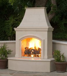 Custom Made Krakow With Standard Chimney Outdoor Fireplace SE-9017 (RHP)