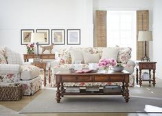 Roses are red, violets are blue...but, the Carrie collection from #Havertys has #pink flowers written all over it! #MSABC