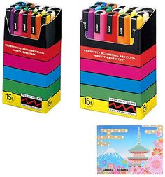 Uni Posca Paint Marker PC-3M White Japan Import 2 pens per Pack Komainu-Dou Original Package