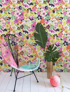 Wildflower Wallpaper in Calypso design by Aimee Wilder
