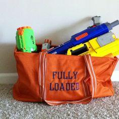 Large Utility Tote is great for toting nerf guns and amo! Shown in Spirit Orange www.mythirtyone.com/MargheritaCannatella