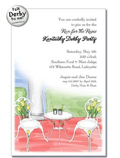 Julep TimeParty Invitation, Kentucky Derby Party Invitations