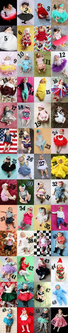 Weekly Baby Pictures: a 52-Week Project. This would be awesome with our age block sets! Just need to add an extra number block!