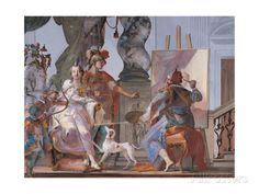 Alexander Watches Apelles Painting Campaspe Giclee Print by Crosato Giambattista…