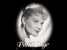 Patti Page - Moon River - YouTube - love this song it just makes you feel so mellow ;-)