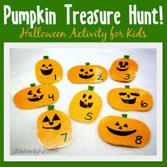 Halloween treasure hunt for kids! Fun Halloween activity!