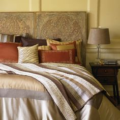 The layered textured bedding gives this bedroom a for Room decor quiz