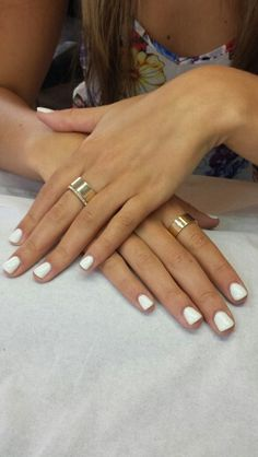 White gel nails. Very summer 2013