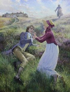 "Christian Birmingham, illustration for Emily Bronte's ""Wuthering Heights"" Literary Characters, Wuthering Heights, Romantic Pictures, World Of Books, Romanticism, Whimsical Art, Book Illustration, Birmingham, Cover Art"