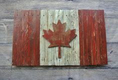 Canadian Flag Canada flag maple leaf by CraigMoodieDesigns Kids Room Wall Art, Home Decor Wall Art, Reclaimed Wood Art, Weathered Wood, National Flag Of Canada, Initial Canvas, Maple Leaf, American Flag Pallet, Rustic Country Wedding Decorations